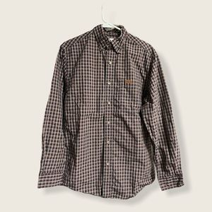Carhartt Plaid Buttoned Down Shirt Size Small
